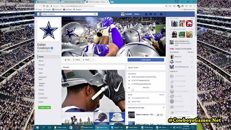 Dallas Cowboys FB Fan Page 2017